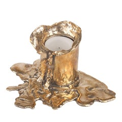 Melted Bronze Candle