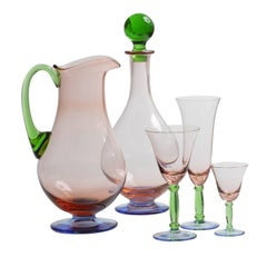 Burano Set of Pitcher and Bottle and Three Glasses for Six