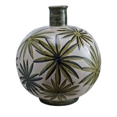 Palm Leaf Ceramic Vase