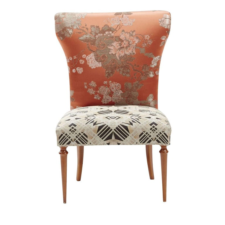 Jaquard And Geometric Armchair For Sale At 1stdibs