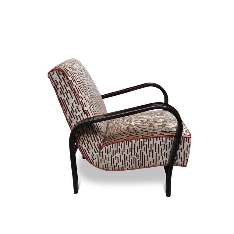 Italian Art Deco Lounge Chair For Sale