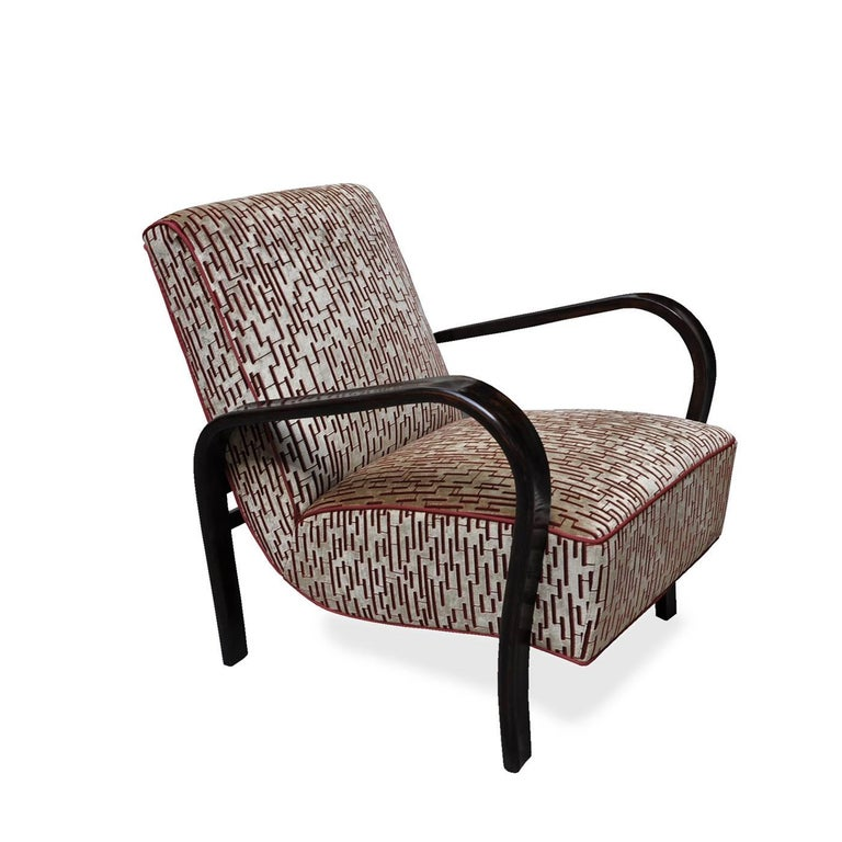 Art Deco Lounge Chair In Excellent Condition For Sale In Milan, IT