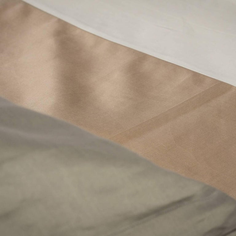 Duvet Cover Set Mud Grey Color Block For Sale At 1stdibs