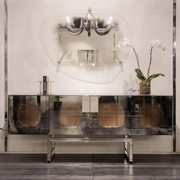 Brass Lagune Mirror For Sale
