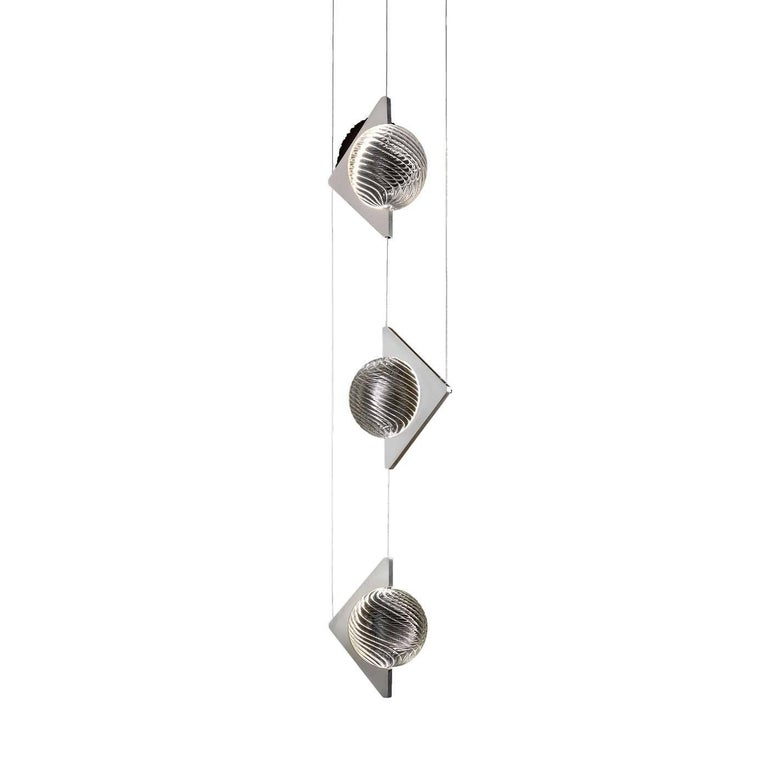 Oz Three-Element Stainless Steel Ceiling Lamp