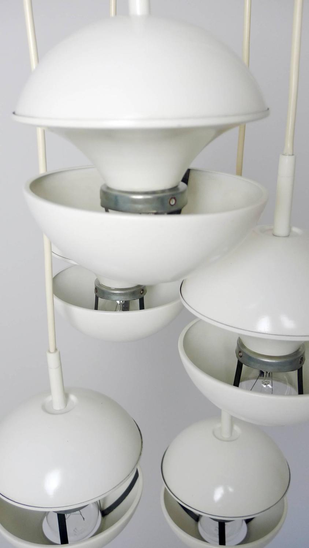 white cascade drop light from kaiser leuchten germany. Black Bedroom Furniture Sets. Home Design Ideas