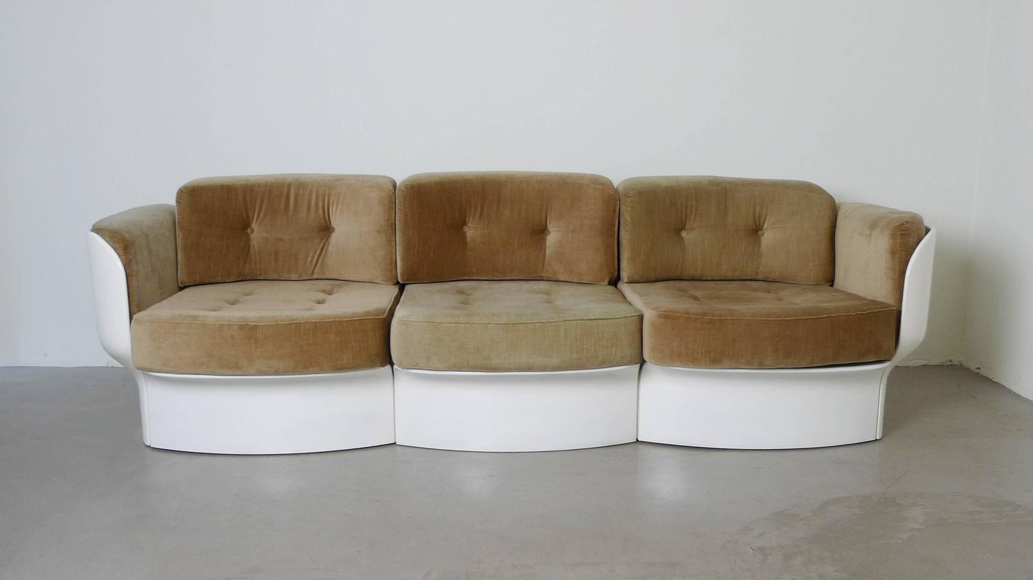 prototype of a futuristic sofa ensemble by peter ghyczy germany 1970s at 1stdibs. Black Bedroom Furniture Sets. Home Design Ideas