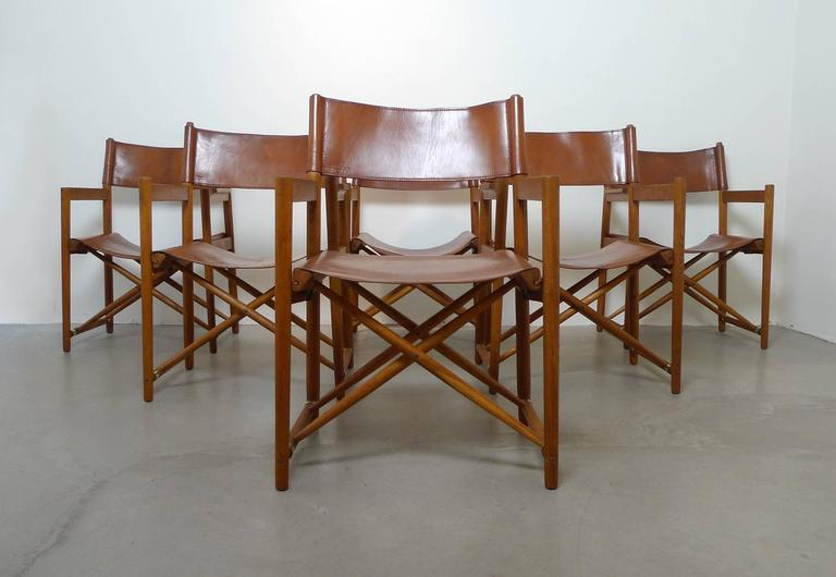 set of six safari dining chairs in the style of mogens koch denmark 1960s
