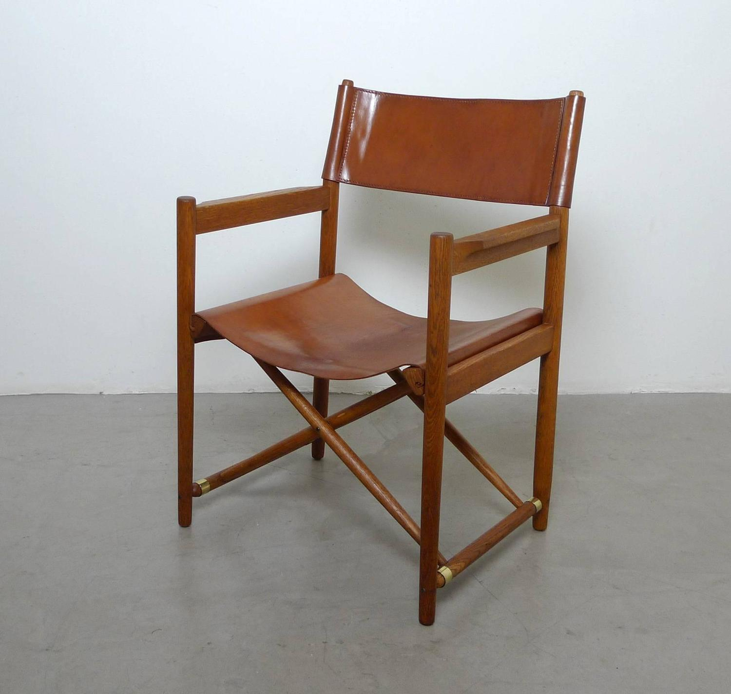 Set Of Six Safari Dining Chairs In The Style Of Mogens