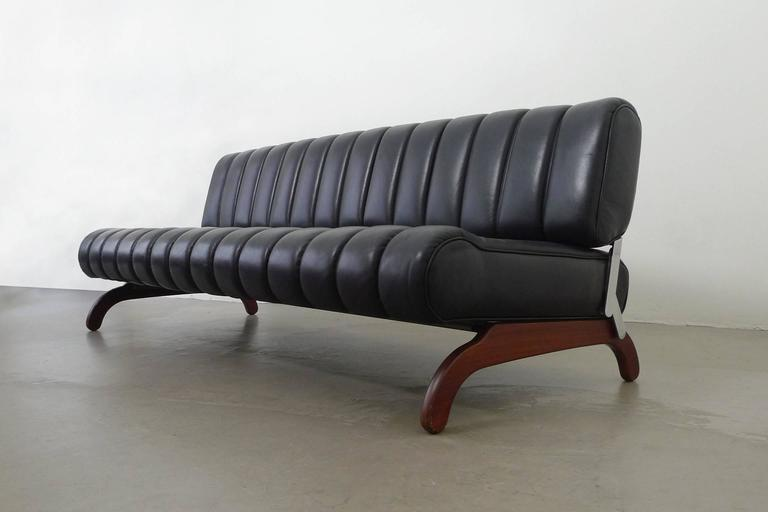 rare independence sofa group with bed function by karl wittmann austria 1968 for sale at 1stdibs. Black Bedroom Furniture Sets. Home Design Ideas