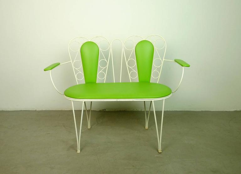 Gorgeous 1960s Garden Set In Green And White From Eastern