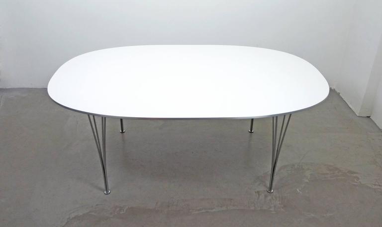 Super Elliptical Table By Piet Hein And Bruno Mathsson For Fritz Hansen,  Denmark 3