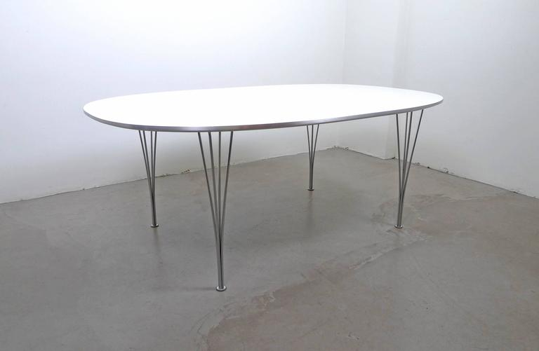 20th Century Super Elliptical Table By Piet Hein And Bruno Mathsson For  Fritz Hansen, Denmark