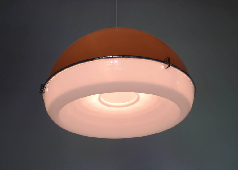 Ceiling Lights Germany : Ceiling light with bi colored plastic shade from germany