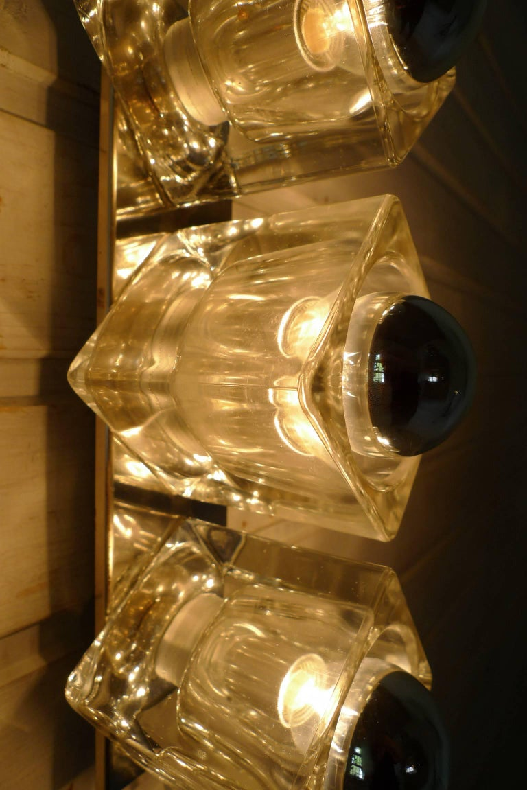 Glass Cube Wall Lights : Wall Light with Three Glass Cubes from the 1970s, Germany For Sale at 1stdibs