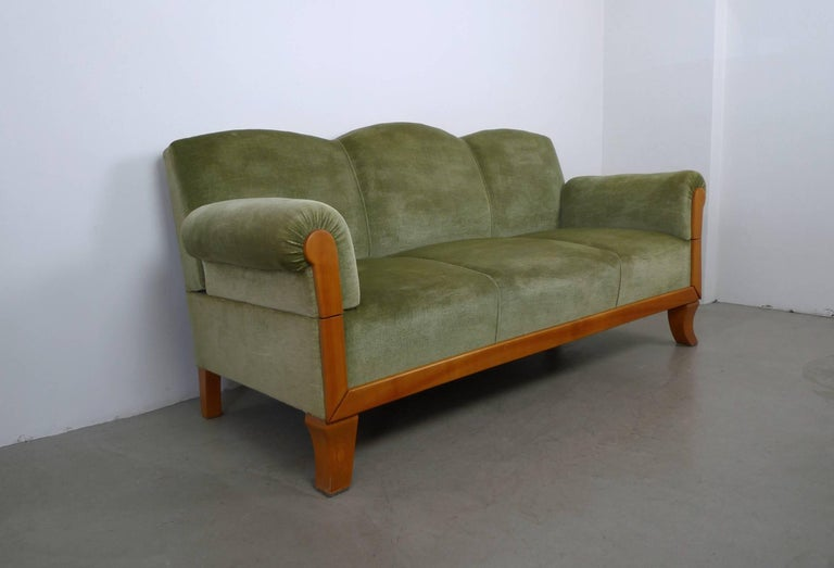 Three Seat Cherry Framed Sofa from Germany 1930s For Sale at 1stdibs