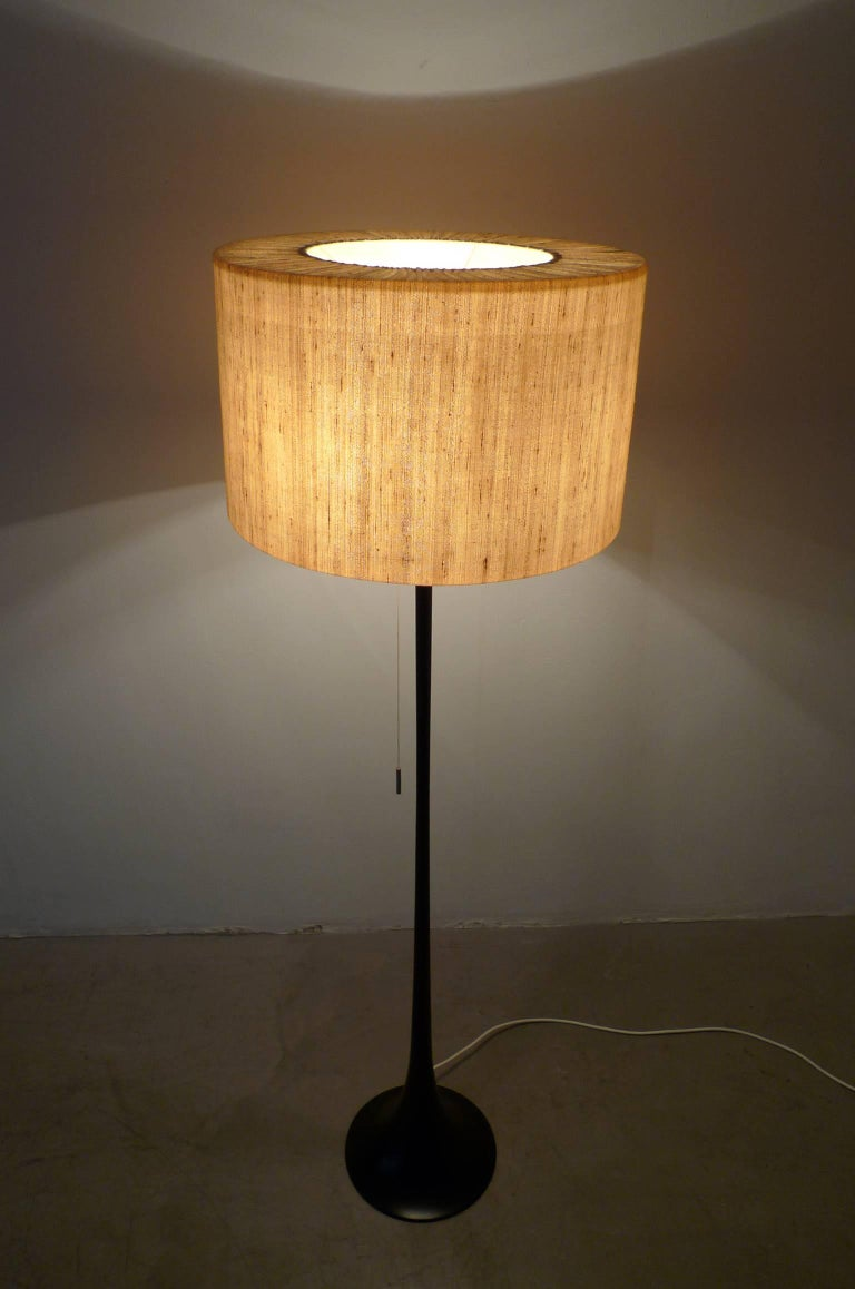 German Floor Lamp with Black Tulip Base from Staff, 1960s at 1stdibs