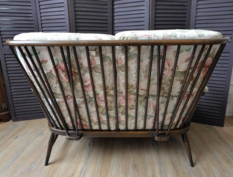 1960 Ercol Evergreen Two Seat Sofa With Original Garden
