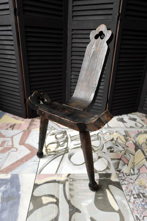 1910 Wooden Birthing Chair or Birthing Stool 2 - 1910 Wooden Birthing Chair Or Birthing Stool At 1stdibs