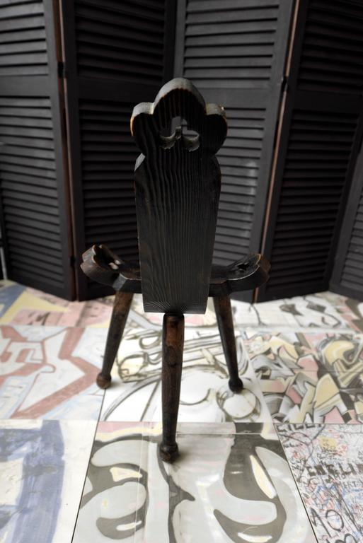 1910 Wooden Birthing Chair Or Birthing Stool At 1stdibs