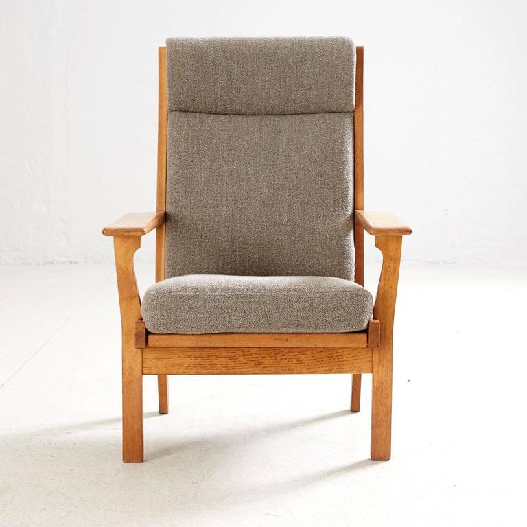 Hans Wegner High Back Lounge Chair by GETAMA 6