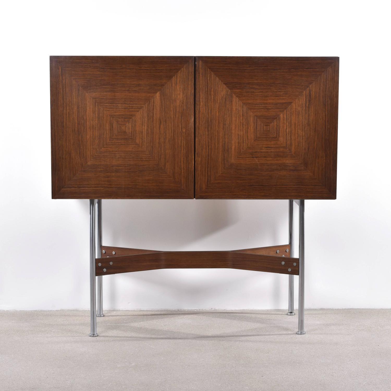 rudolf bernd glatzel bar cabinet for fristho for sale at 1stdibs. Black Bedroom Furniture Sets. Home Design Ideas