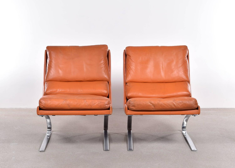 reinhold adolf and hans j rgen schr pfer lounge chairs for cor germany at 1stdibs. Black Bedroom Furniture Sets. Home Design Ideas