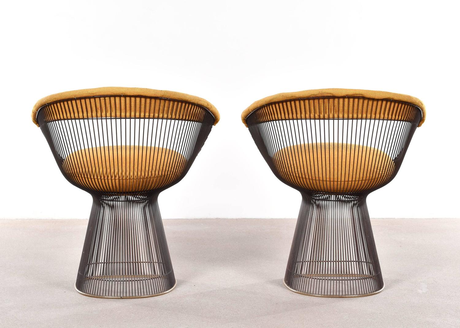 Warren Platner Dining Chairs For Knoll At 1stdibs
