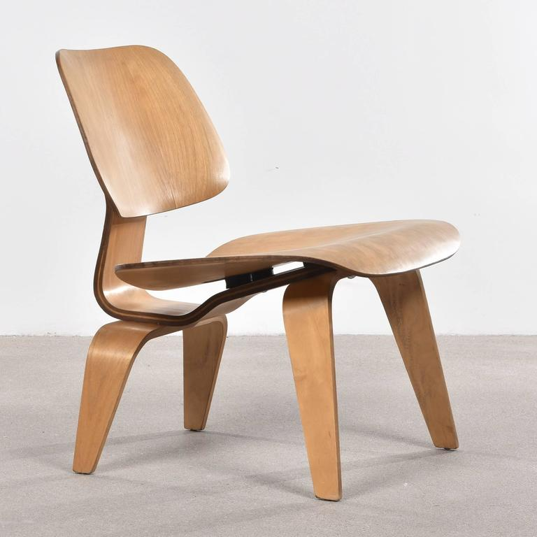 Eames LCW Oak Lounge Chair for Herman Miller at 1stdibs