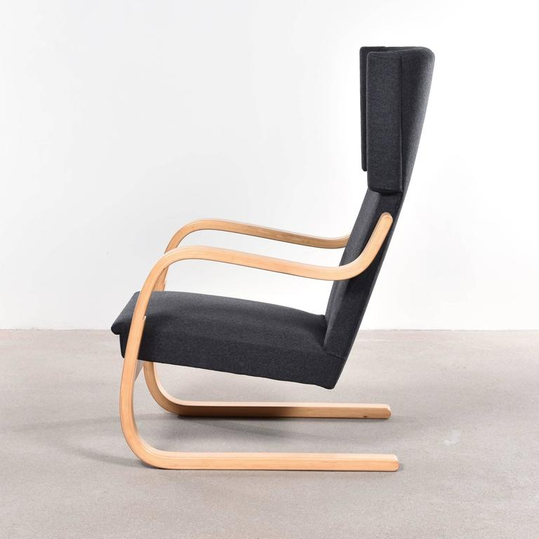 Exceptionnel Alvar Aalto 401 Wingback Lounge Chair For Artek, Finland. Birch Plywood  Frame And New