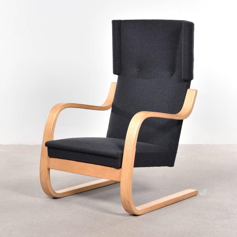 Scandinavian Modern Alvar Aalto 401 Wingback Lounge Chair for Artek, Finland