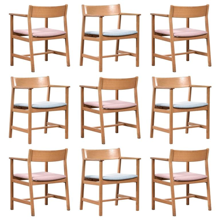 Børge Mogensen Dining Chairs, Model 3248 for Fredericia Stolefabrik For Sale