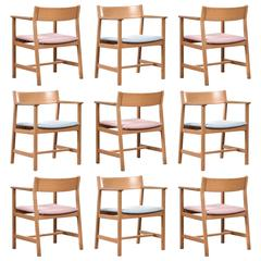 Børge Mogensen Dining Chairs, Model 3248 for Fredericia Stolefabrik