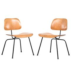 Eames DCM Pair of Ash Side Chair by Herman Miller, USA