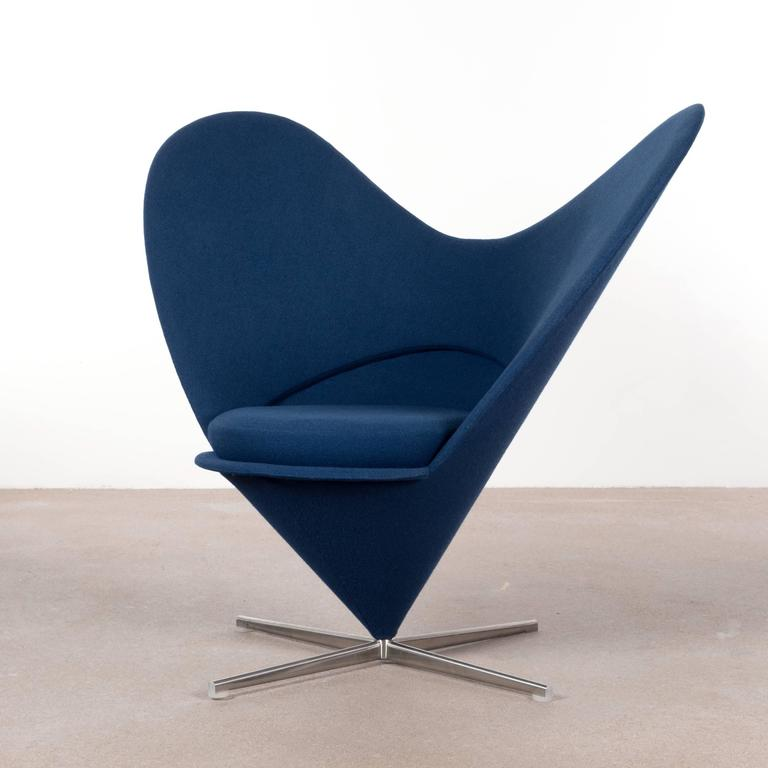verner panton cone heart chair by vitra germany for sale at 1stdibs. Black Bedroom Furniture Sets. Home Design Ideas