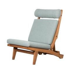 Hans Wegner Ap71 Lounge Chair with Green Kvadrat Fabric for AP Stolen, Denmark
