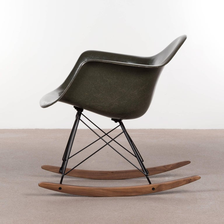 eames rocking chair green. eames rar olive green dark rocker chair herman miller, usa 3 rocking a