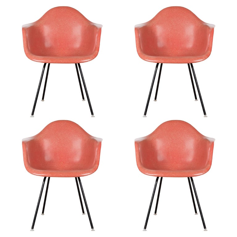Eames Salmon Dax Dining Chair for Herman Miller, 1958 For Sale