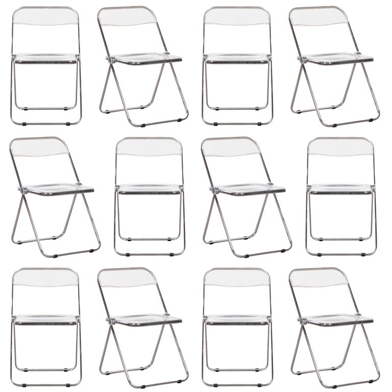 Giancarlo Piretti Folding Plia Chairs for Castelli, Italy