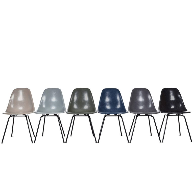 Set of six Eames for Herman Miller DSX dining chairs, ca. 1965, offered by Joink