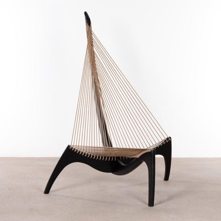 Jørgen Høvelskov Black Harp Lounge Chair for Jørgen Christensens For Sale 2