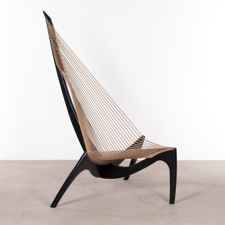 Jørgen Høvelskov Black Harp Lounge Chair for Jørgen Christensens For Sale 3