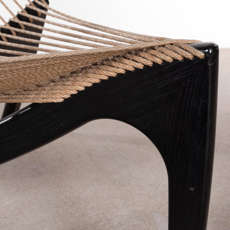 Jørgen Høvelskov Black Harp Lounge Chair for Jørgen Christensens For Sale 5