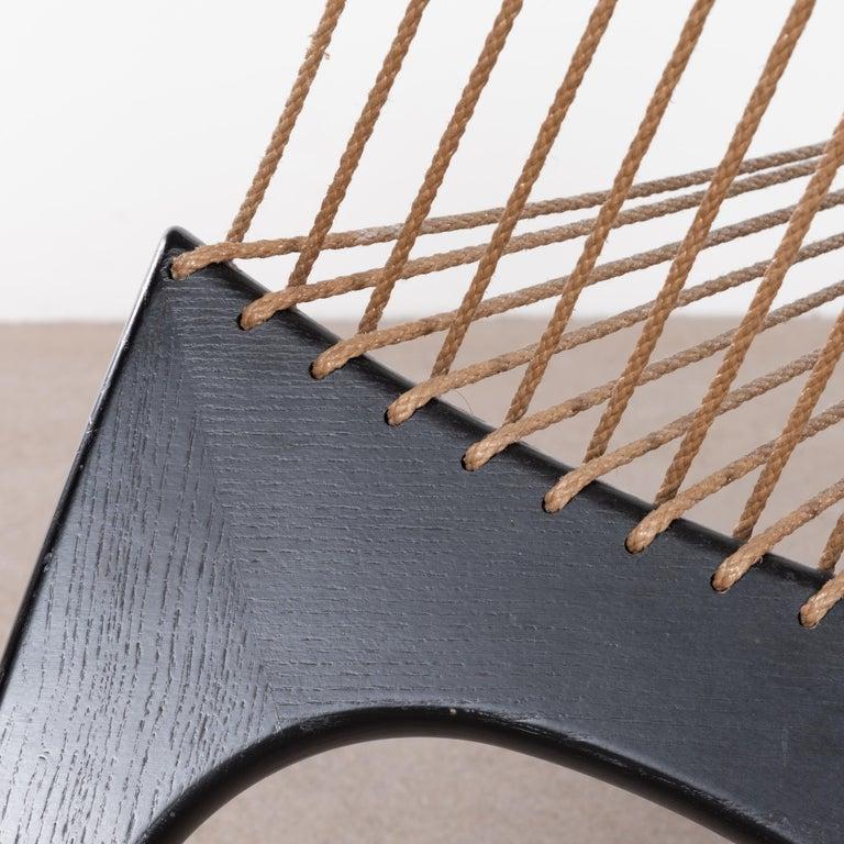 Jørgen Høvelskov Black Harp Lounge Chair for Jørgen Christensens For Sale 10