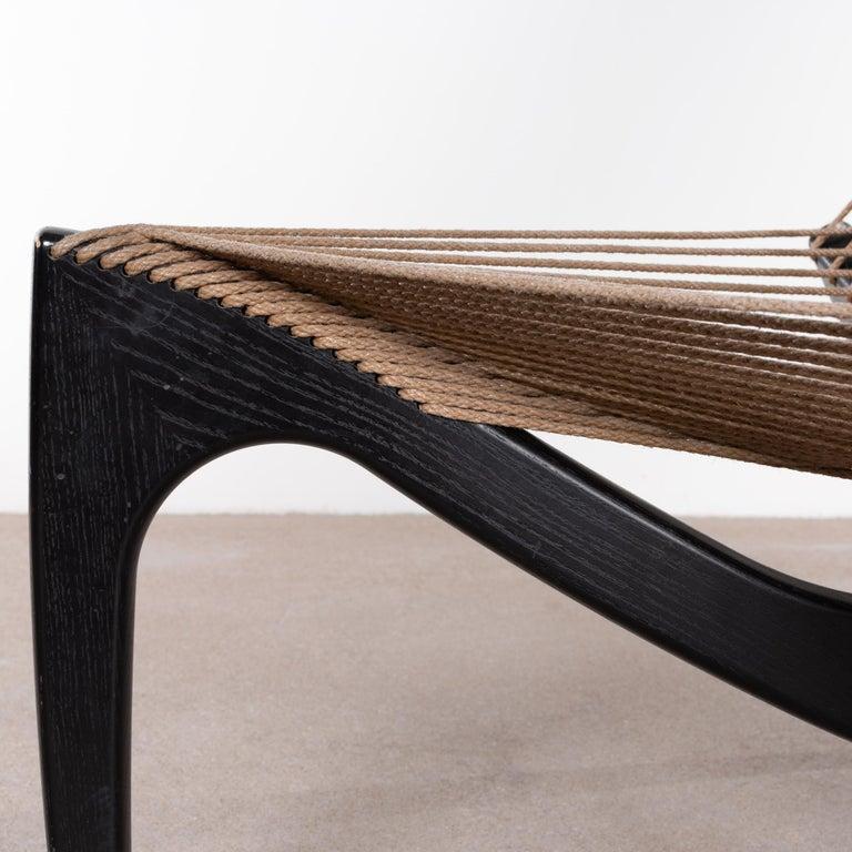 Jørgen Høvelskov Black Harp Lounge Chair for Jørgen Christensens For Sale 12