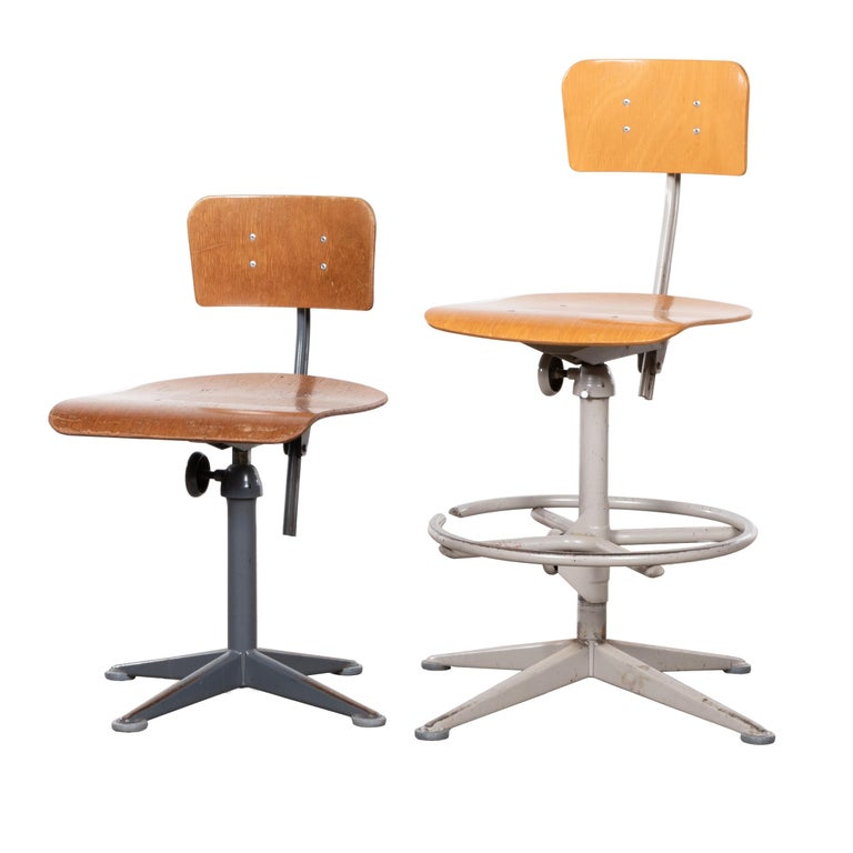 Friso Kramer Industrial Drafting Stools for Ahrend de Cirkel, Netherlands For Sale