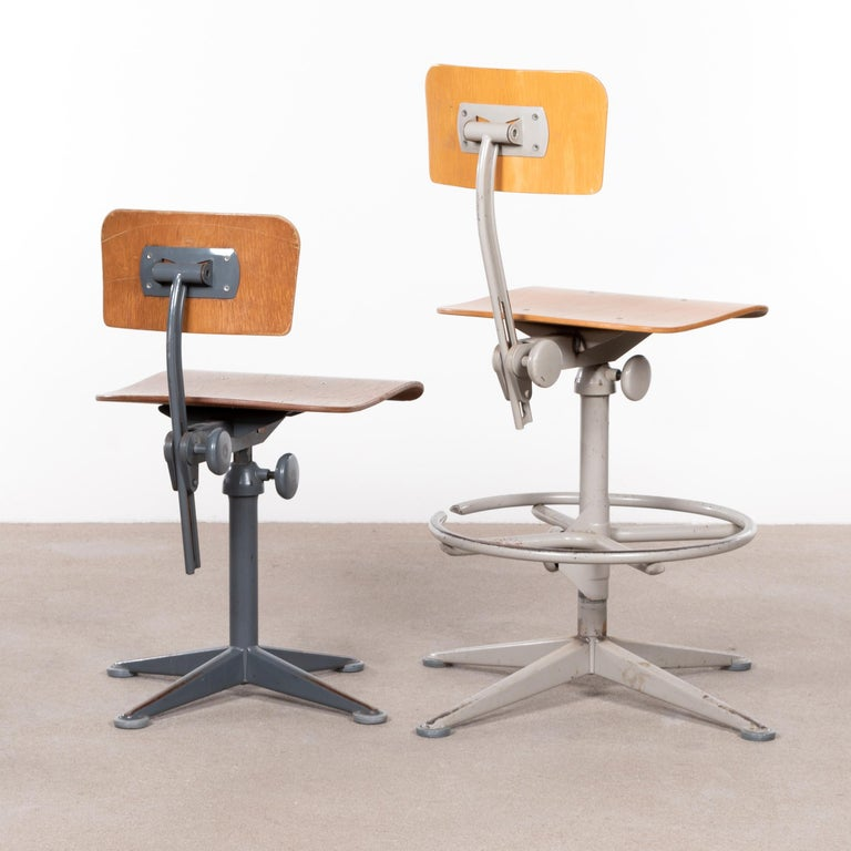 Friso Kramer Industrial Drafting Stools for Ahrend de Cirkel, Netherlands For Sale 1
