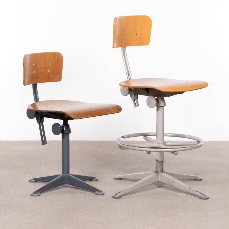 Friso Kramer Industrial Drafting Stools for Ahrend de Cirkel, Netherlands For Sale 2