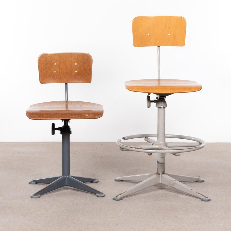 Friso Kramer Industrial Drafting Stools for Ahrend de Cirkel, Netherlands For Sale 3