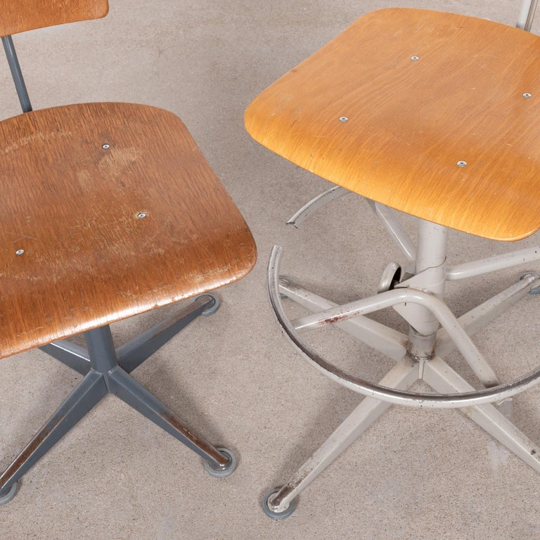 Friso Kramer Industrial Drafting Stools for Ahrend de Cirkel, Netherlands For Sale 6
